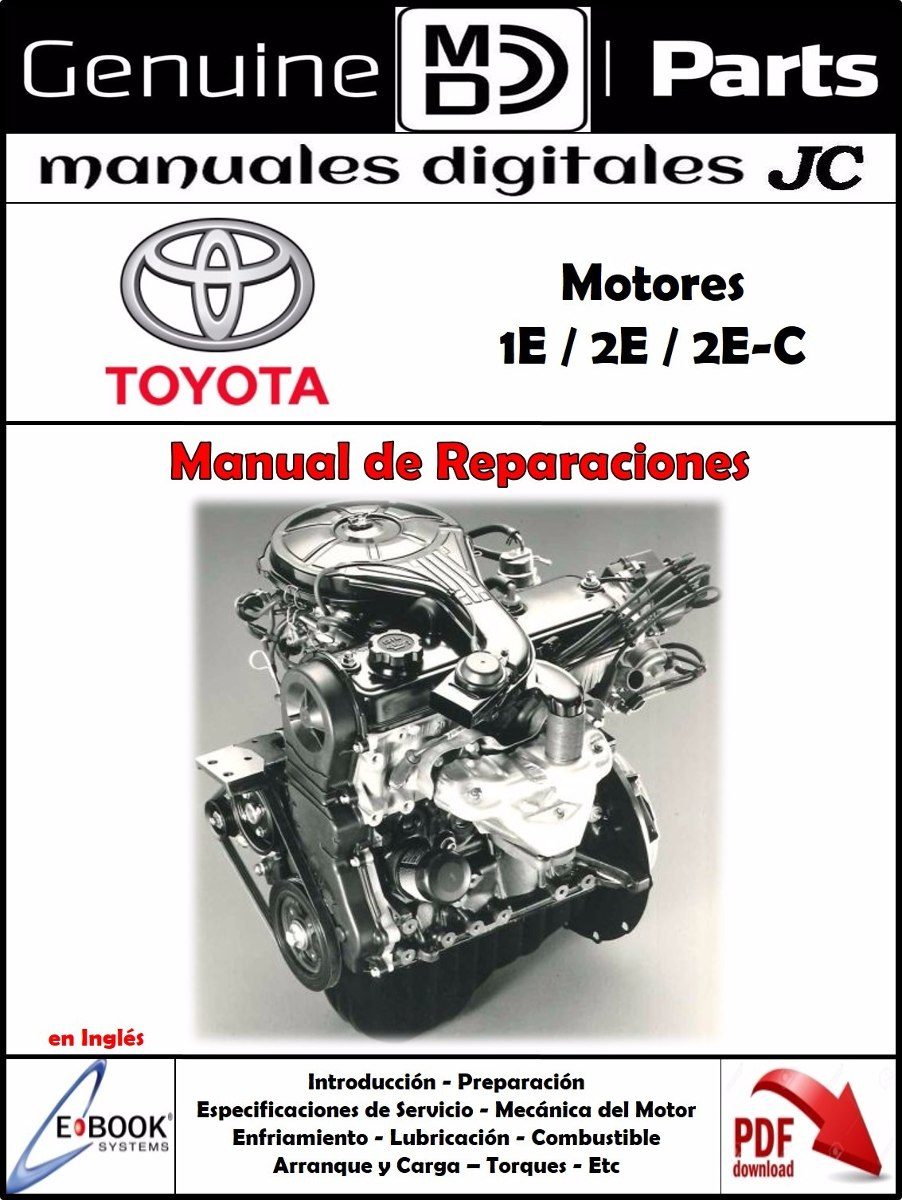 manual taller motor toyota 1e 2e 2e c original 6 985 en mercado rh articulo mercadolibre cl toyota 2e engine manual corolla 2e engine manual