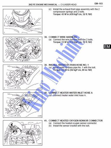 manual taller - reparacion motor 2nz-fe toyota yaris 99-05