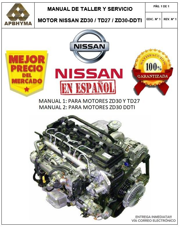 manual taller reparaci�n motor nissan td27 espa�ol