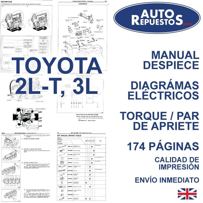 manual taller servicio motor toyota 2l t 3l s 5 00 en mercado rh articulo mercadolibre com pe