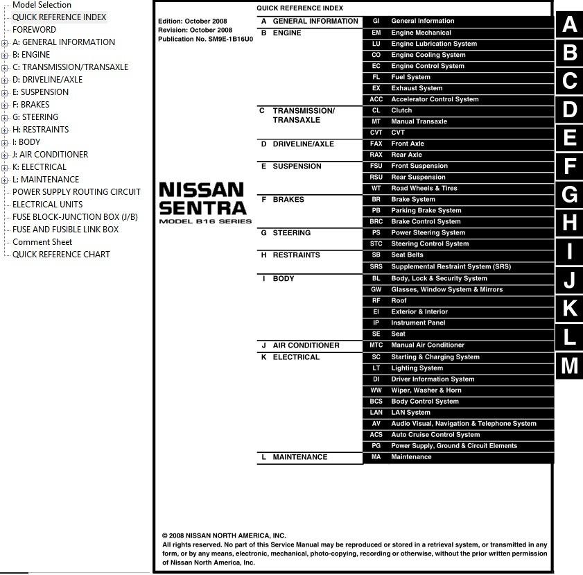 2009 nissan sentra repair manual pdf
