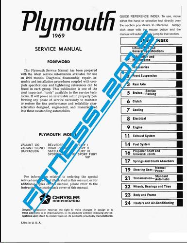 manual taller y diagrama electricos plymouth valiant 1969