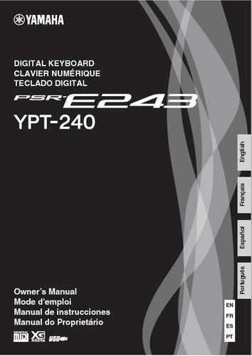 manual teclado yamaha psr-e243 em português (arquivo pdf)