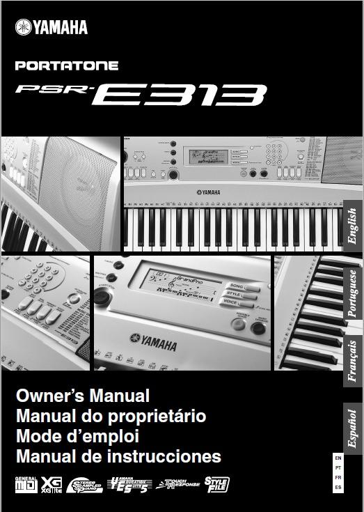 manual teclado yamaha psr e313 em portugu s arquivo pdf r 19 00 rh produto mercadolivre com br Teclado Yamaha PSR 640 Teclados Yamaha Mexico