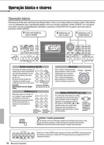 manual teclado yamaha psr-e423 em português (arquivo pdf)