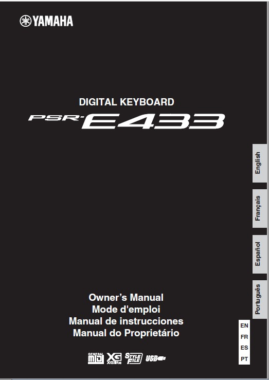 Manual do teclado yamaha psr e433 em português r$ 15,00 em.