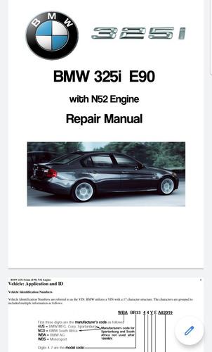 manual tecnico de especificaciones de bmw e90 (325i)