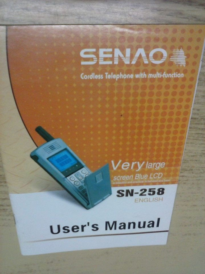 Senao sn-258 plus manual.