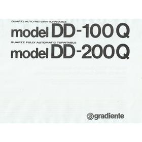 Manual Toca Discos Gradiente Dd100q  Dd200q  Em Pdf