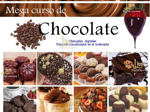 manual todo con chocolate, bombones, recetas, galletas