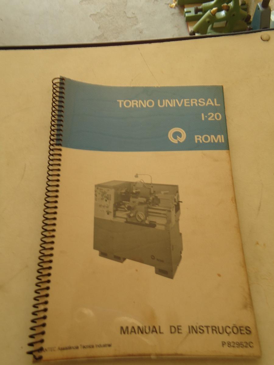 manual torno i 20 r 120 00 em mercado livre rh produto mercadolivre com br Torno Para Madera Torno Simple