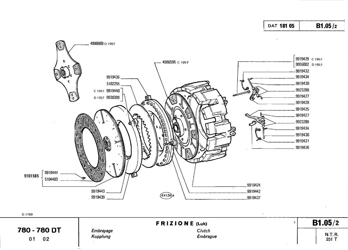 Fiat 780 Wiring Diagram Schematic Diagrams Amphicar Manual Tractor Dt Despiece 967 Pginas En Espaol 555