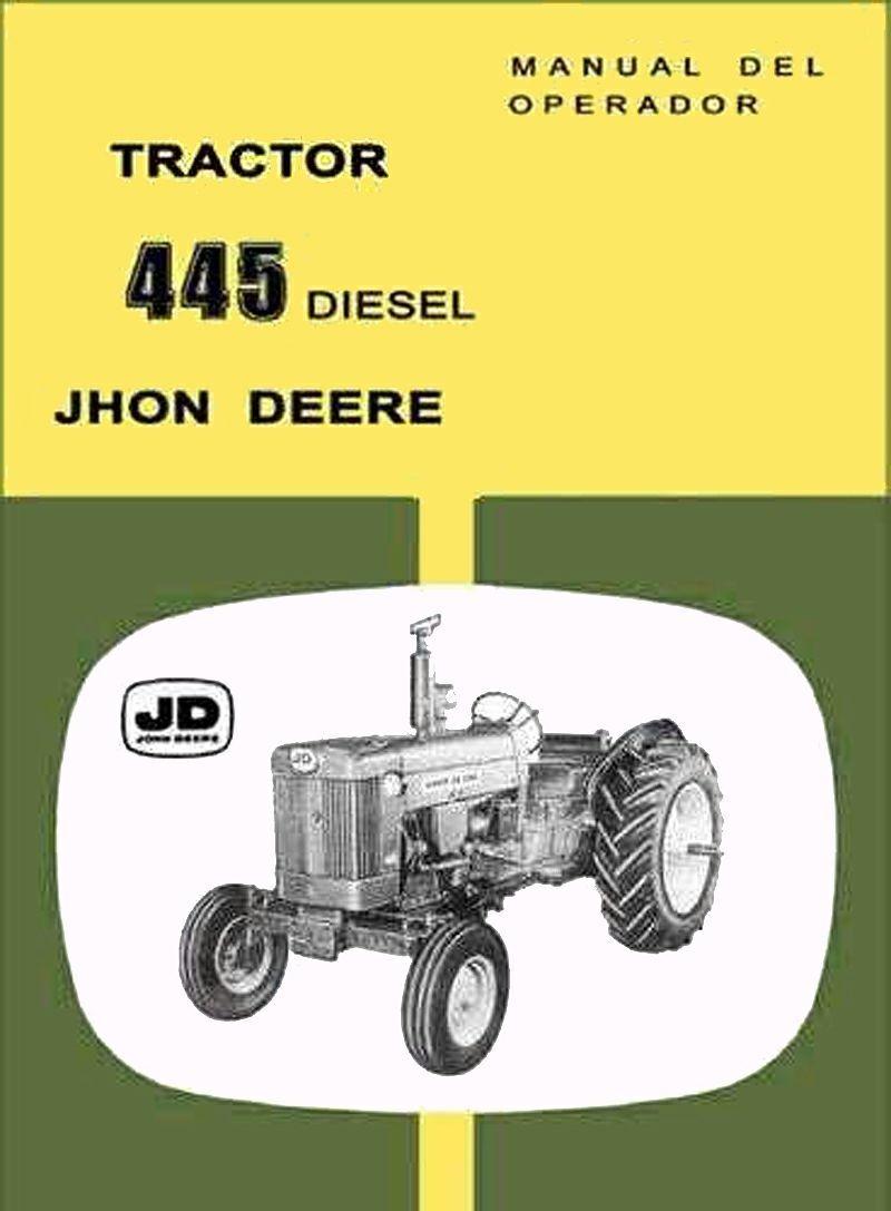 Manual Tractor John Deere 445 (65 Páginas) En Español - $ 512,00 en ...