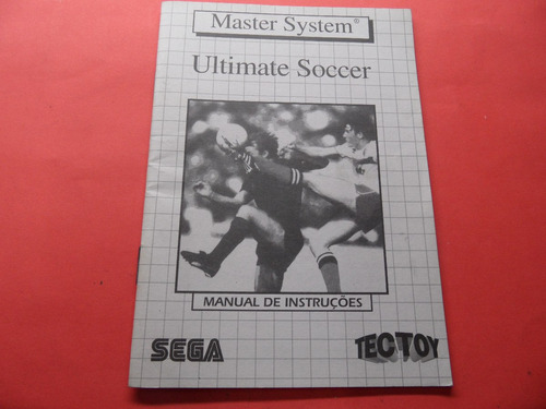 manual ultimate soccer master system tectoy frete 6,00