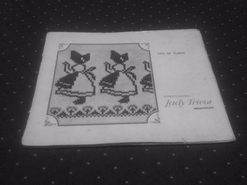 manual uso de tarjetas máquinas de tejer lady tricot, singer