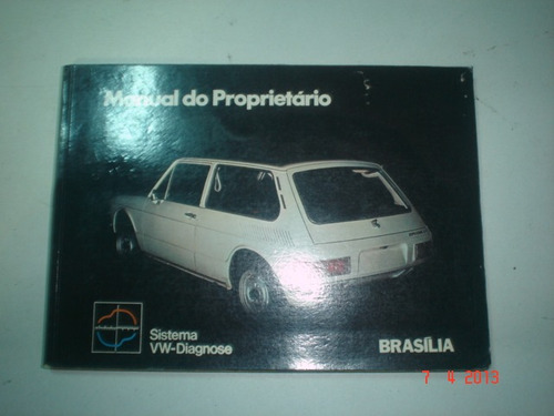 manual vw brasilia 1975 original volkswagen proprietario