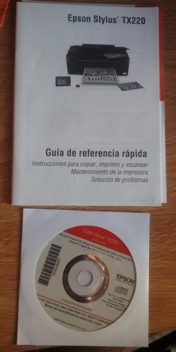 manual de impresora epson tx220