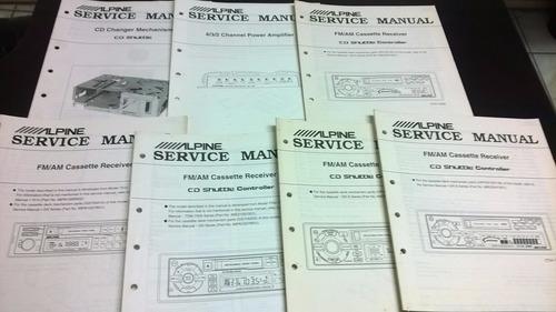 manuales servicio tecnico de equipos kenwood y alpine