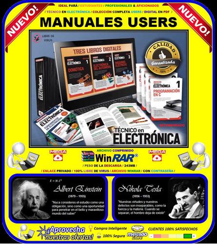 manuales users técnico en electrónica / colección completa /