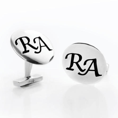 manucernillas de plata ley .925 personalizadas con iniciales