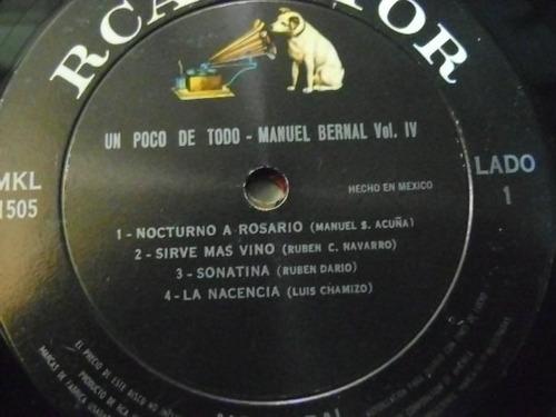 manuel bernal / ...un poco de todo  1 disco lp vinilo