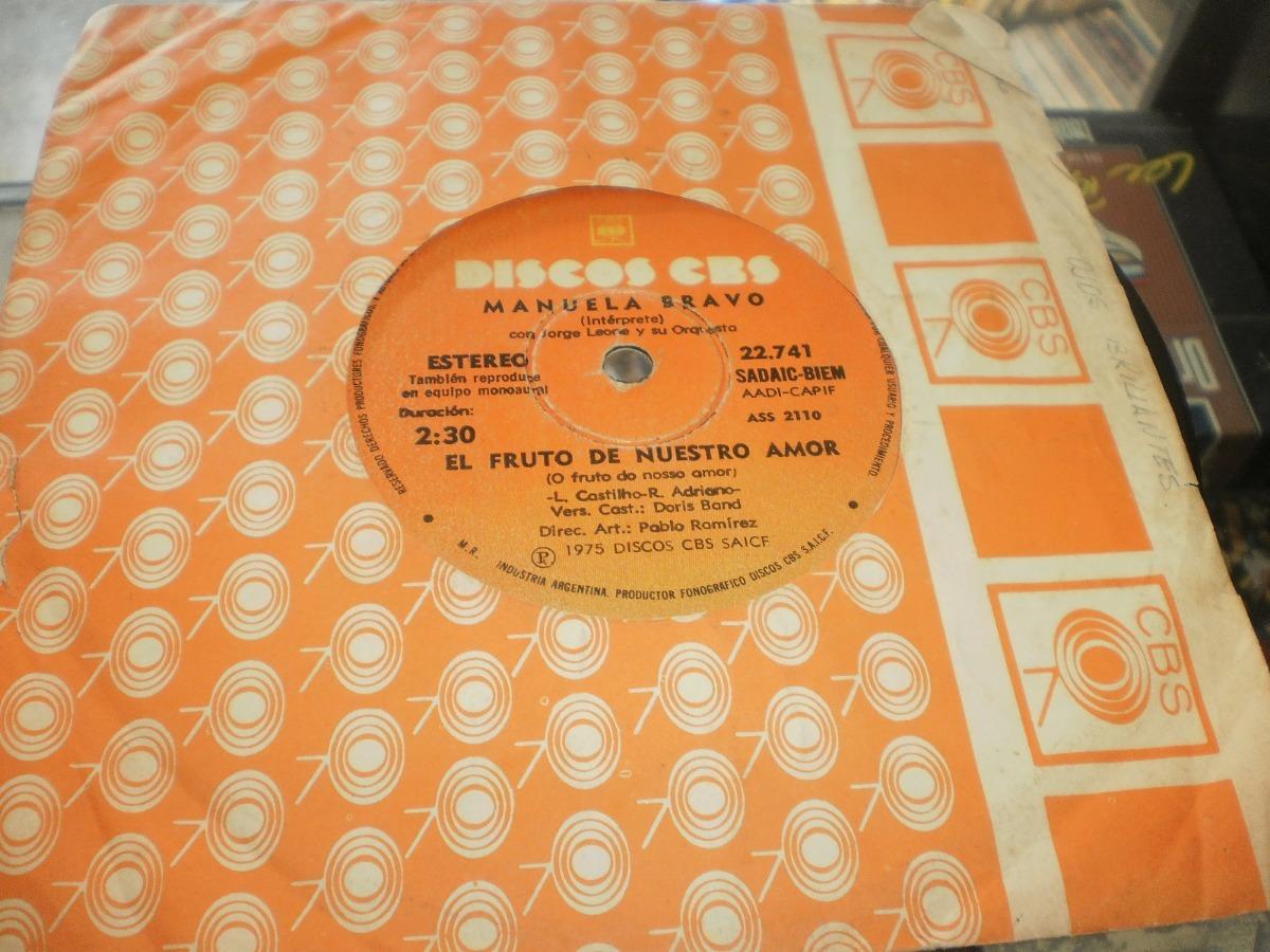 d838943d50811 Manuela Bravo El Fruto De Nuestro Amor - Simple Vinilo -   115,00 en ...