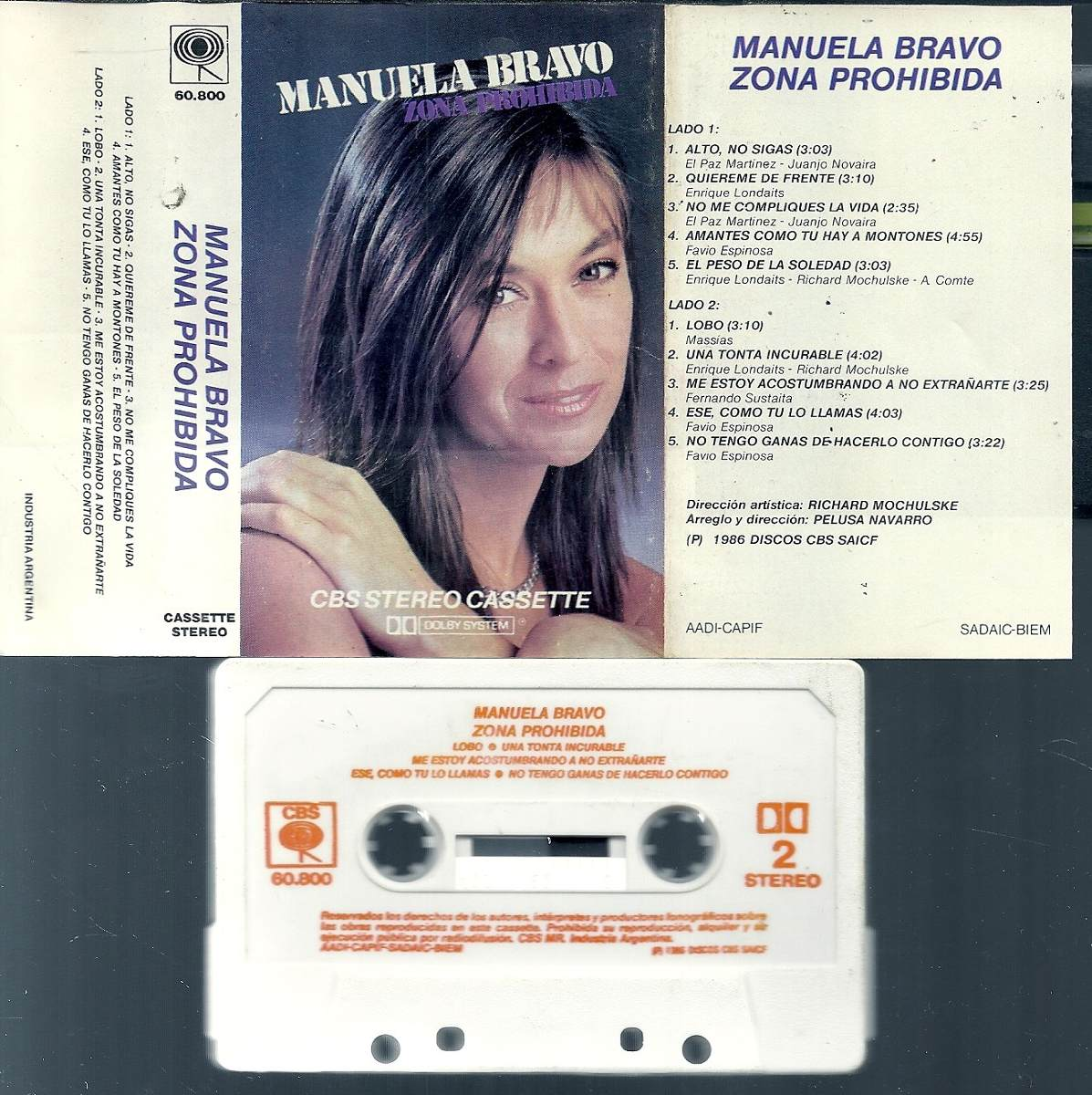 e86098b954f25 Manuela Bravo Zona Prohibida Cassette Nuevo -   100,00 en Mercado Libre