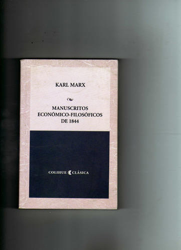 manuscritos economicos -filososficos de 1844 karl marx