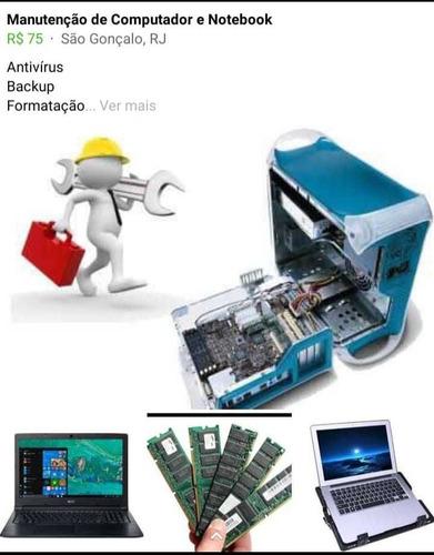 manutenção de computadores, tablets  e notebooks