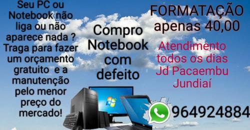 manutenção de notebooks e pcs