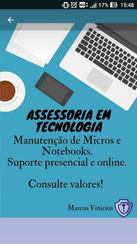manutenção de pcs e notebooks . suporte online e presencial
