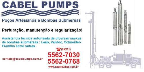 manutenção de poços artesianos e bombas submersas