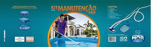 manutenção piscina kit limpeza