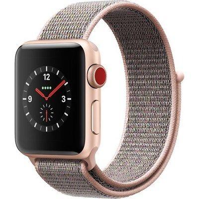 18f7924cb17d5 Manzana Reloj Serie 3 38mm Smartwatch Gps + Celular Oro -   24.142 ...