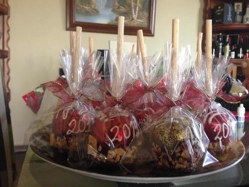 manzanas cubiertas de chocolate