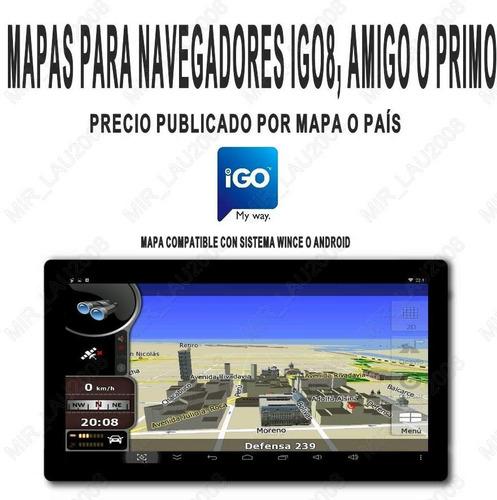 mapa argentina 2018 p/ igo8 igo primo en stereos y gps chino