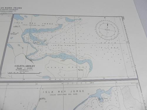 mapa caletas bahia fildes i hidrografico armada chile