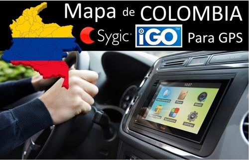 mapa carros kia, chevrolet, hyundai colombia 2017  micro sd