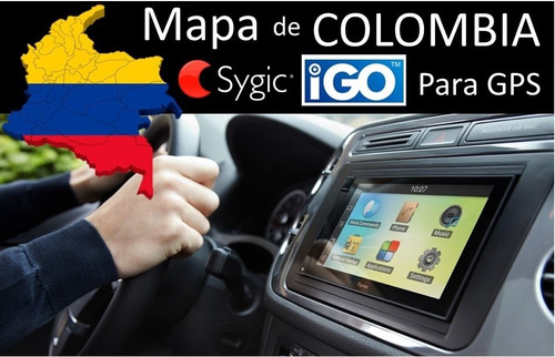 mapa carros kia, chevrolet, hyundai colombia 2018  micro sd