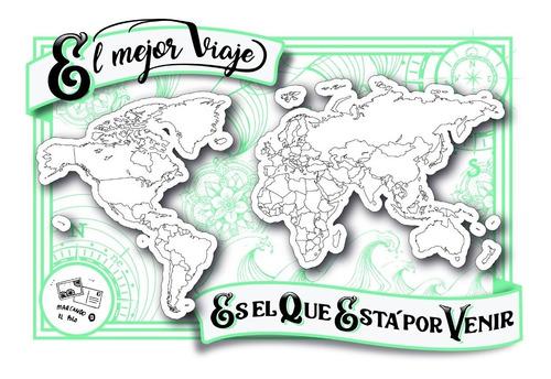 mapa coloreable (rígido, tamaño a4)