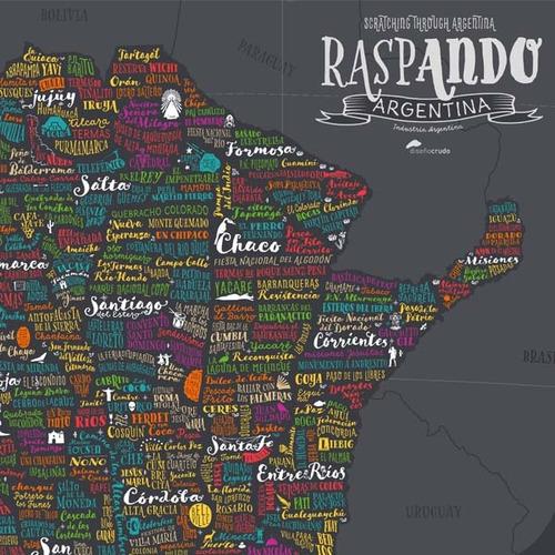 mapa con raspadita argentina - local villa crespo