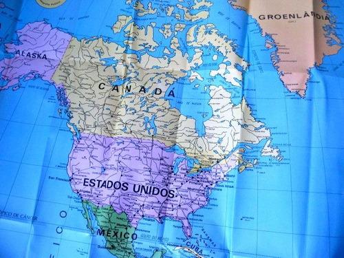 mapa das américas geomapas