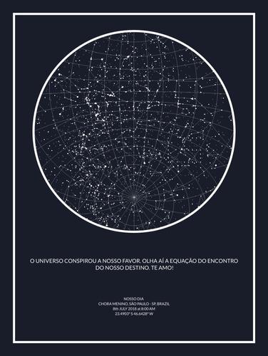 mapa das estrelas digital