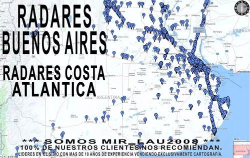 mapa de argentina 2019 + radares p/ gps garmin nuvi drive