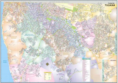 mapa de ciudad de tijuana mural