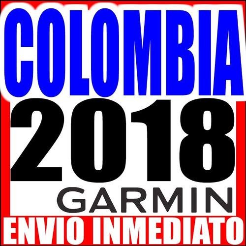 mapa de colombia garmin - envio inmediato - version 2018