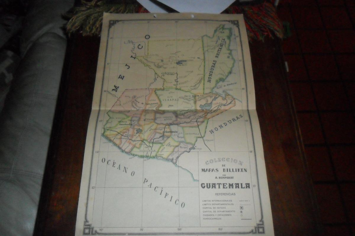 Mejico O Mexico Mapa.Mapa De Guatemala Bemporat Mejico Mexico Honduras Britanica 199 00