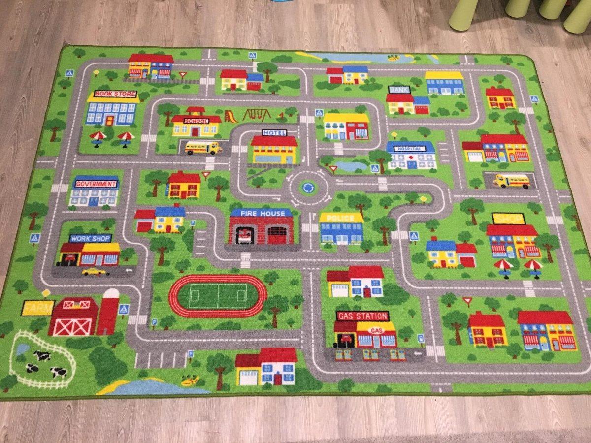 Mapa Ciudad Para Niños.Mapa De La Calle De La Ciudad Alfombra Para Ninos Con Camin