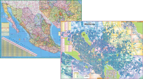 mapa de monterrey  mapa mexico murales gigantes