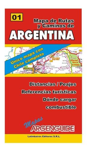 mapa de rutas y caminos de argentina